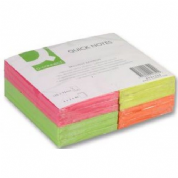 Q-CONNECT Quick Notes Brilliant Rainbow - Quick note - 127 x 76 mm - square - 75 sheets Pack of 12